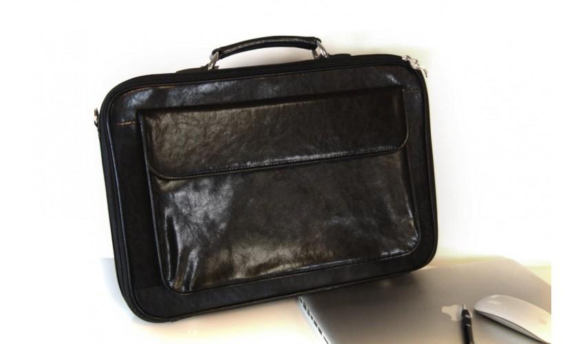 Skórzana torba na laptopa z paskiem na ramię Francesko 04