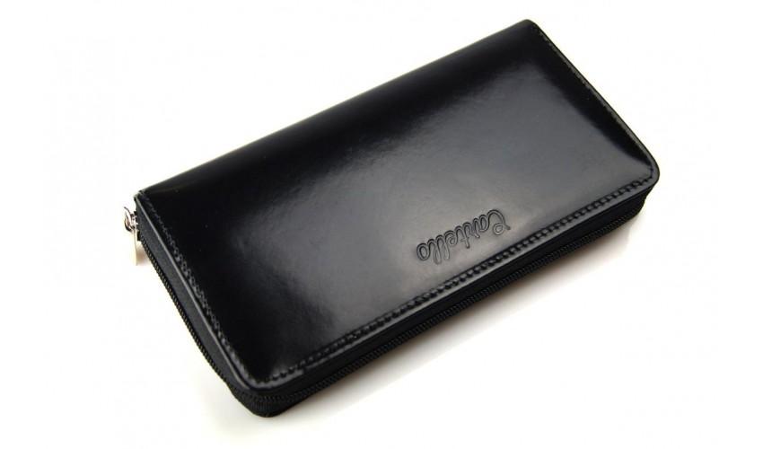 411bc66285ece Skórzany portfel damski na zamek Cartello D271 - Cartello