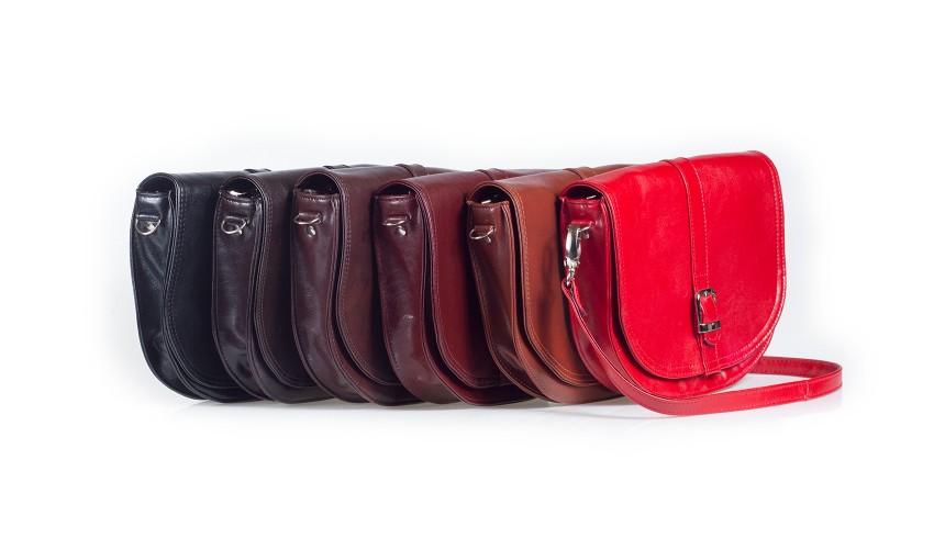 Skórzana damska torebka na ramię, listonoszka Maria 03
