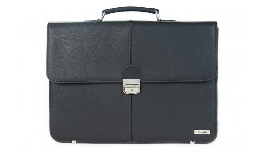 Skórzana torba męska na laptopa i dokumenty F05L