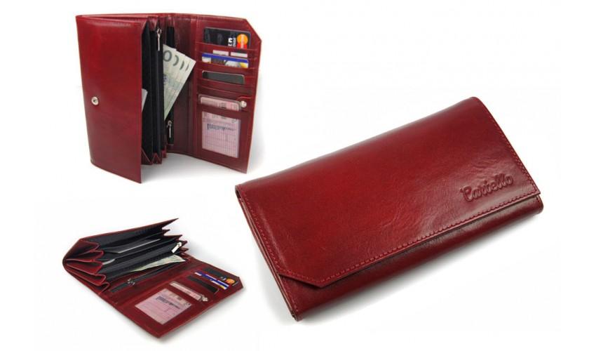 Skórzany portfel damski Cartello DS001