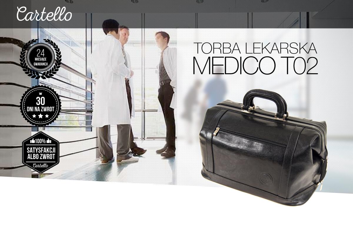 Skórzana torba dla lekarza