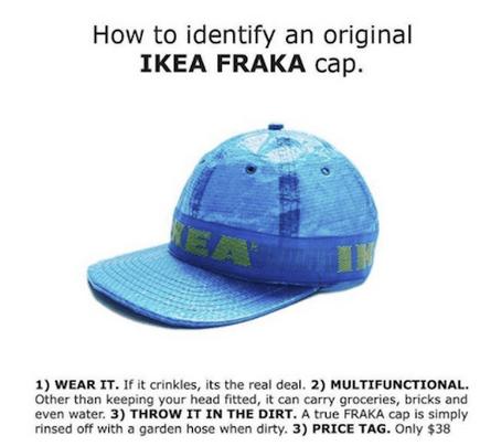 czapka z torby ikea