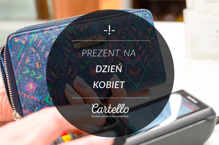 348232147edca Prezent na dzień kobiet - skórzany portfel na zamek - Cartello